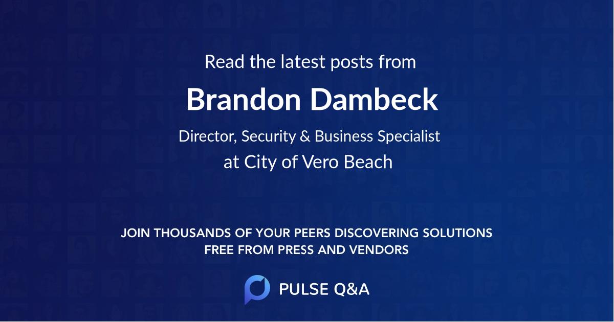 Brandon Dambeck