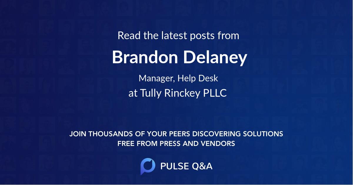 Brandon Delaney