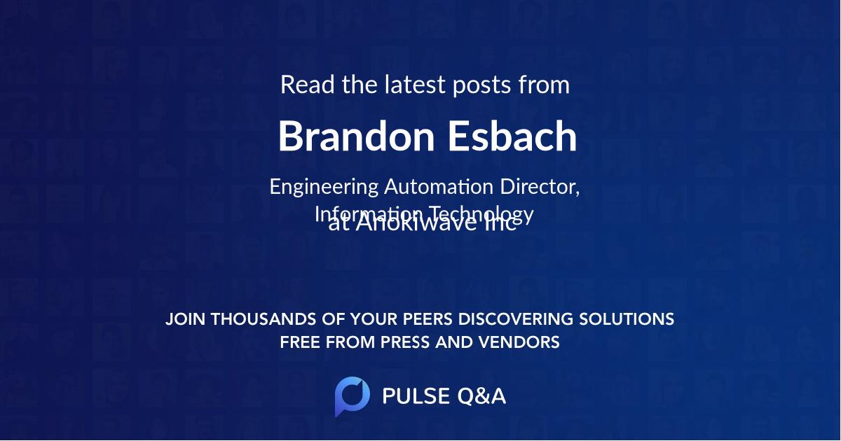 Brandon Esbach