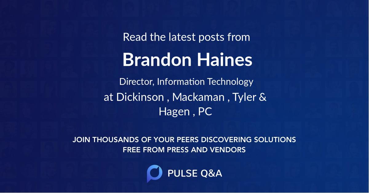 Brandon Haines