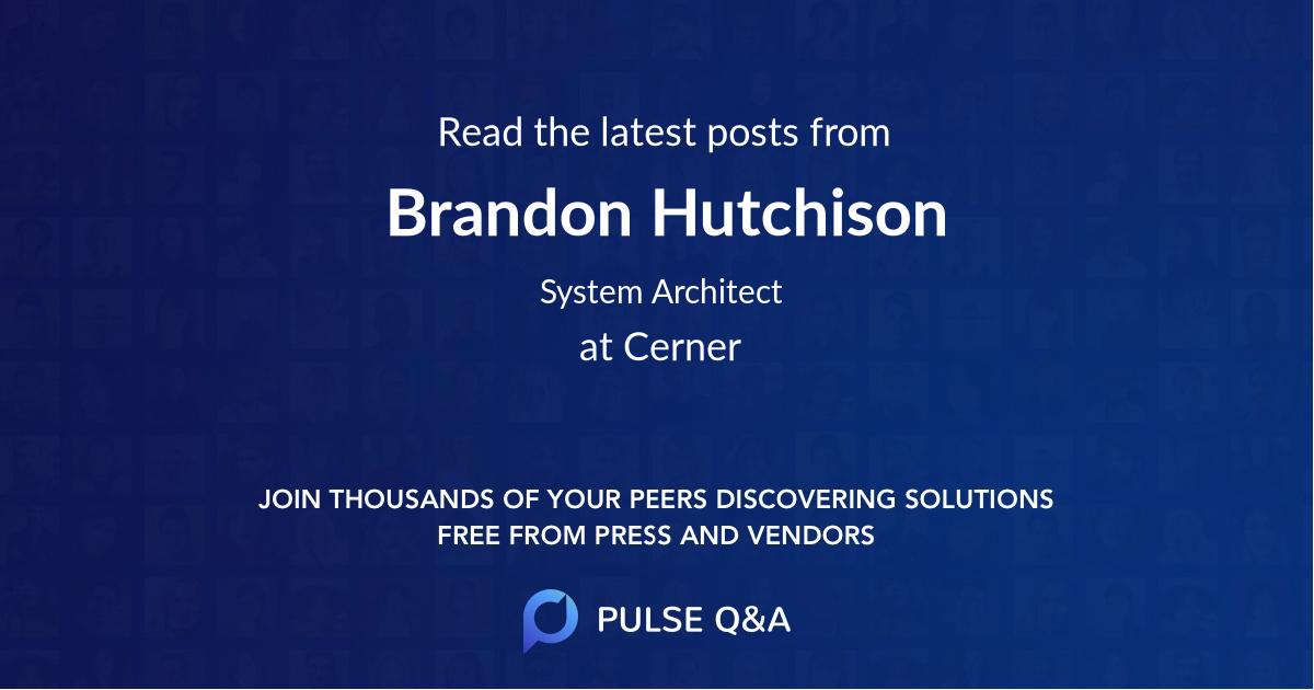 Brandon Hutchison