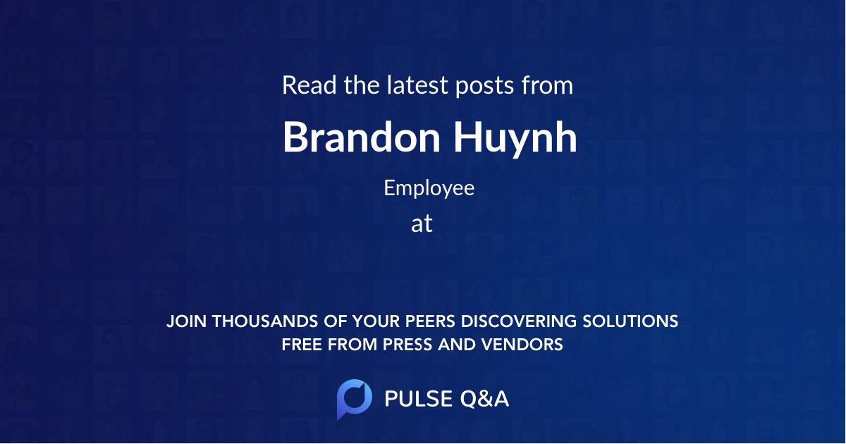 Brandon Huynh