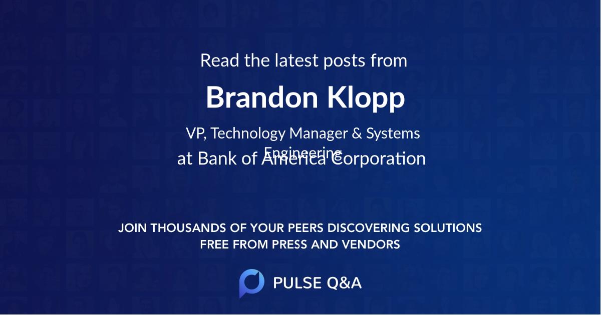 Brandon Klopp