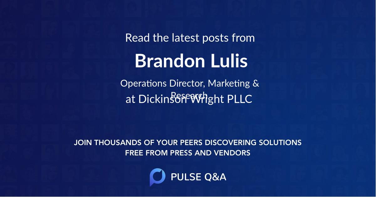 Brandon Lulis