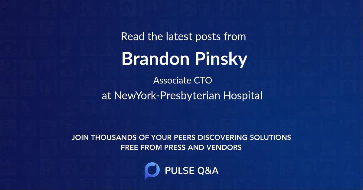 Brandon Pinsky