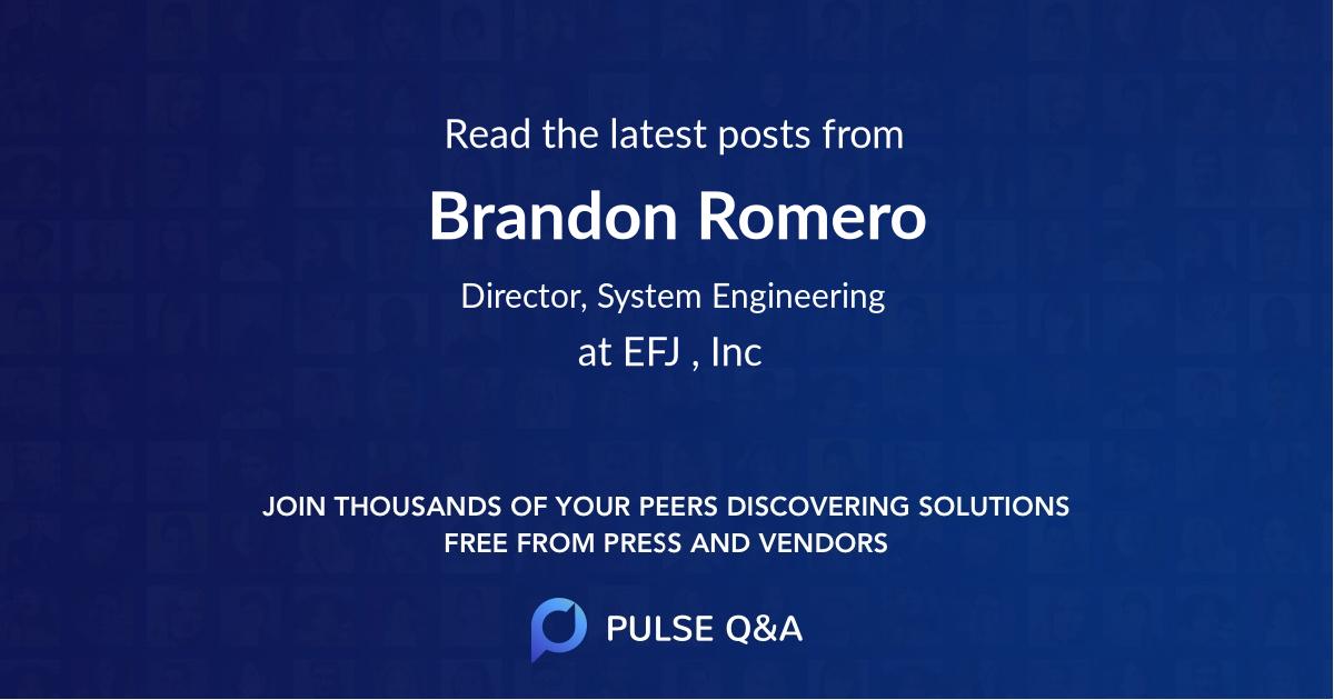 Brandon Romero