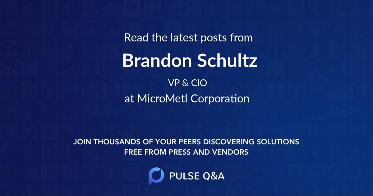Brandon Schultz