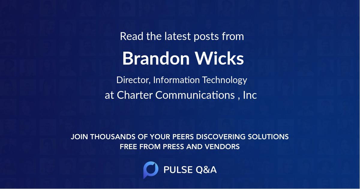 Brandon Wicks