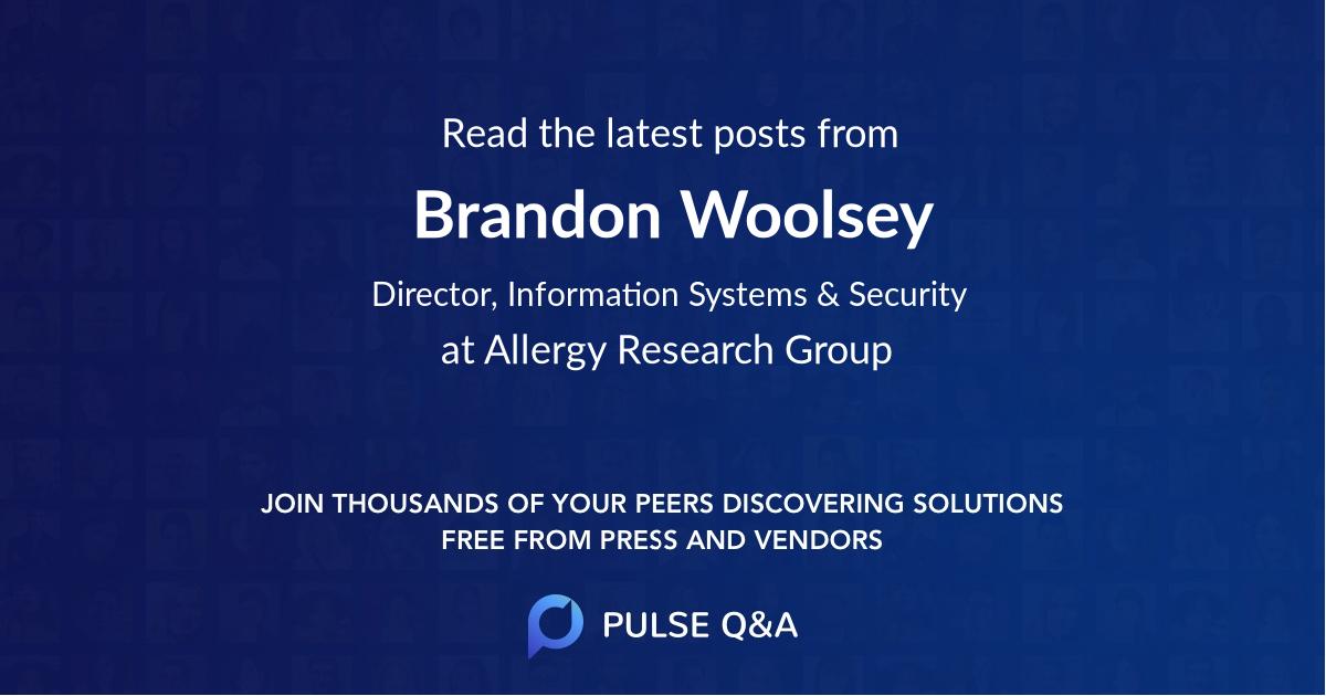 Brandon Woolsey