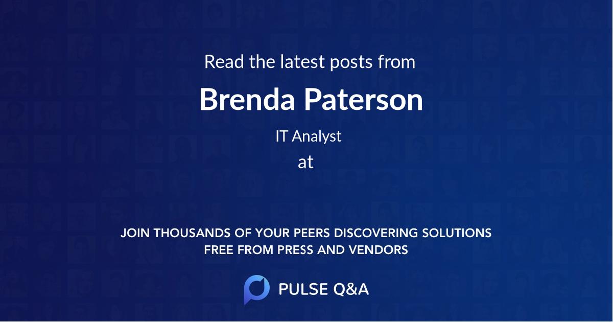 Brenda Paterson