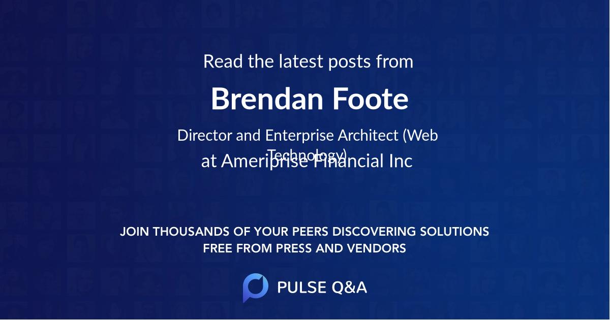 Brendan Foote
