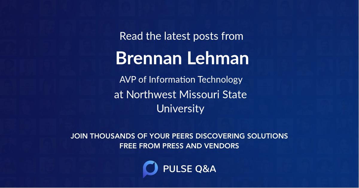Brennan Lehman