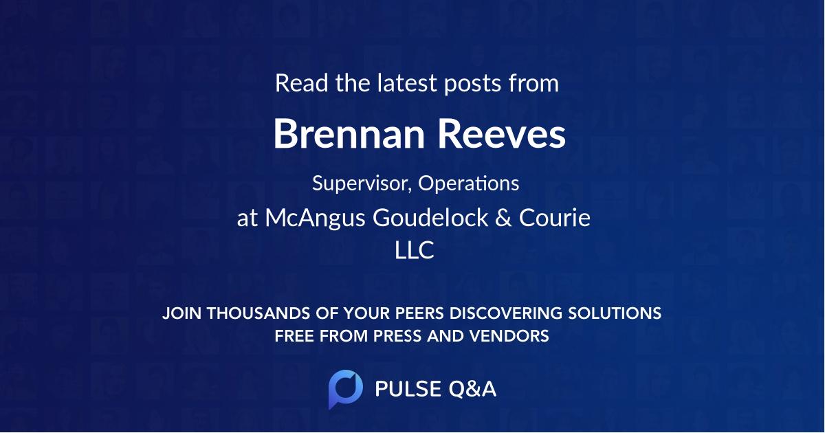 Brennan Reeves