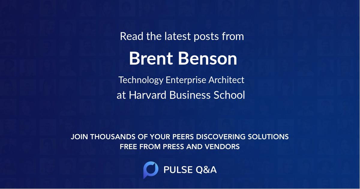Brent Benson