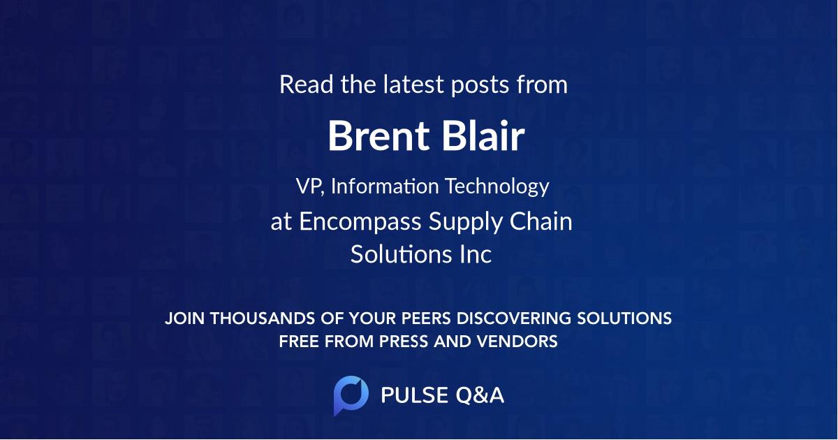 Brent Blair