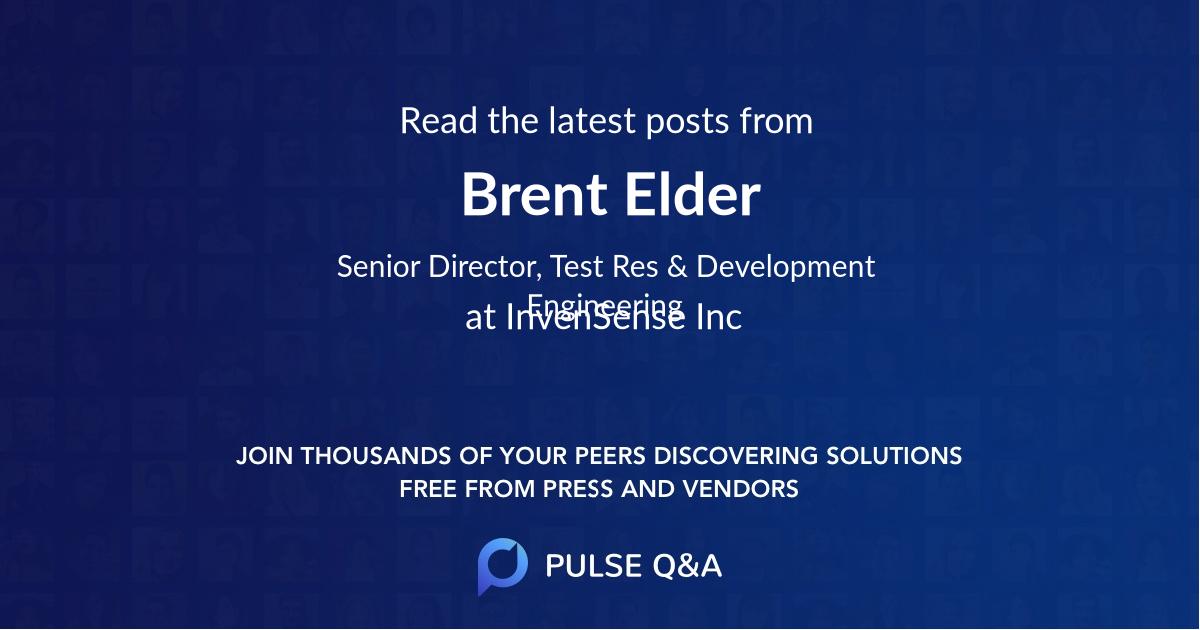 Brent Elder