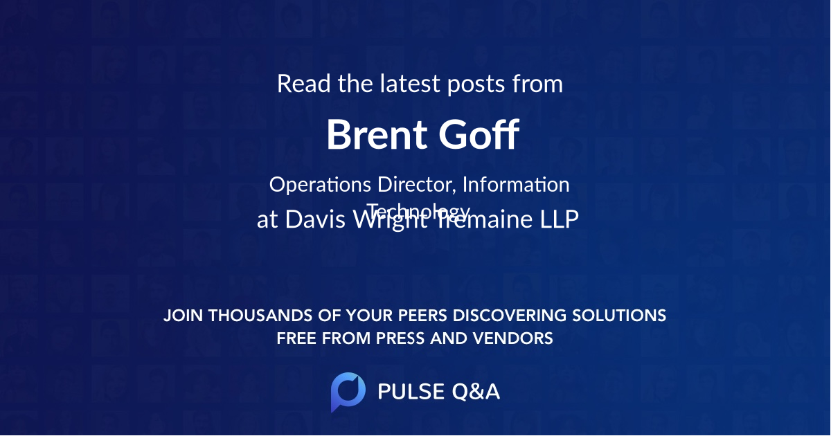 Brent Goff