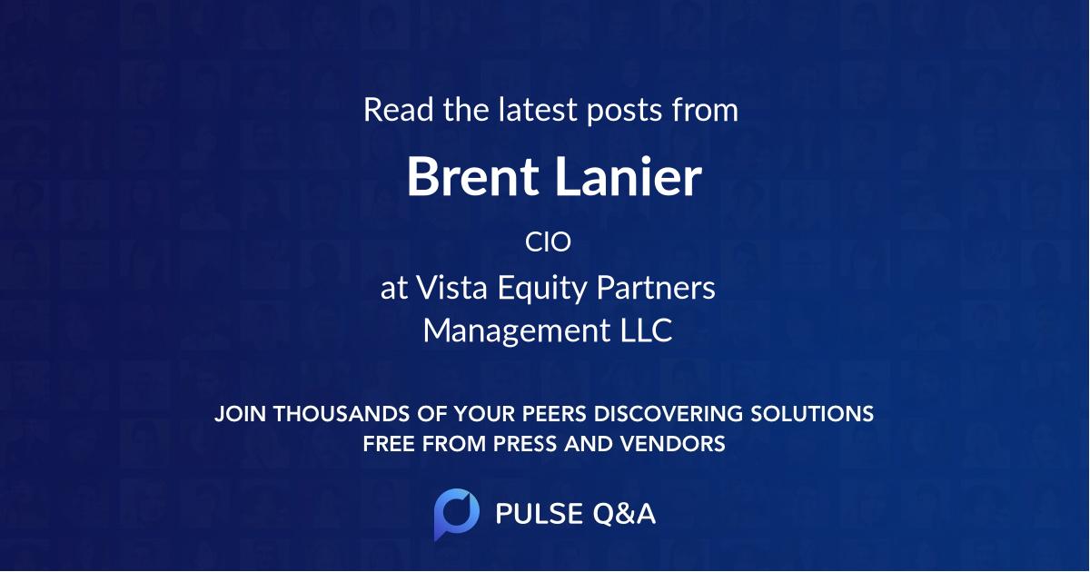 Brent Lanier