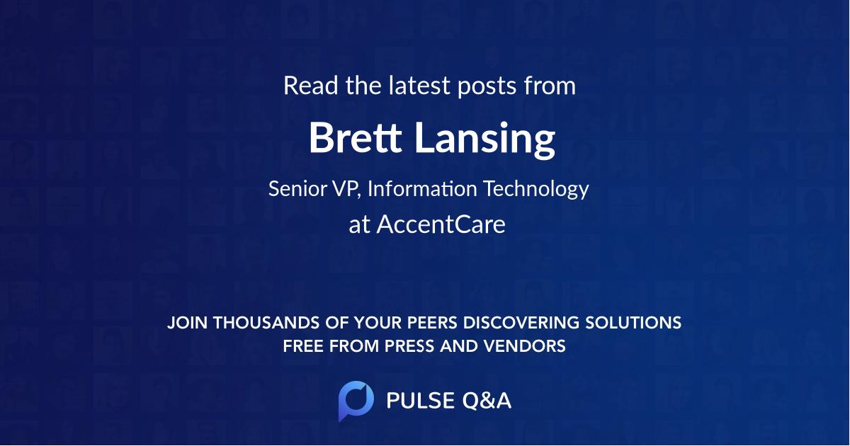 Brett Lansing
