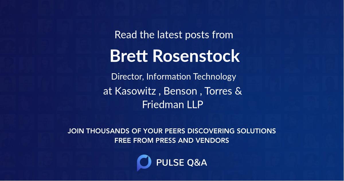 Brett Rosenstock