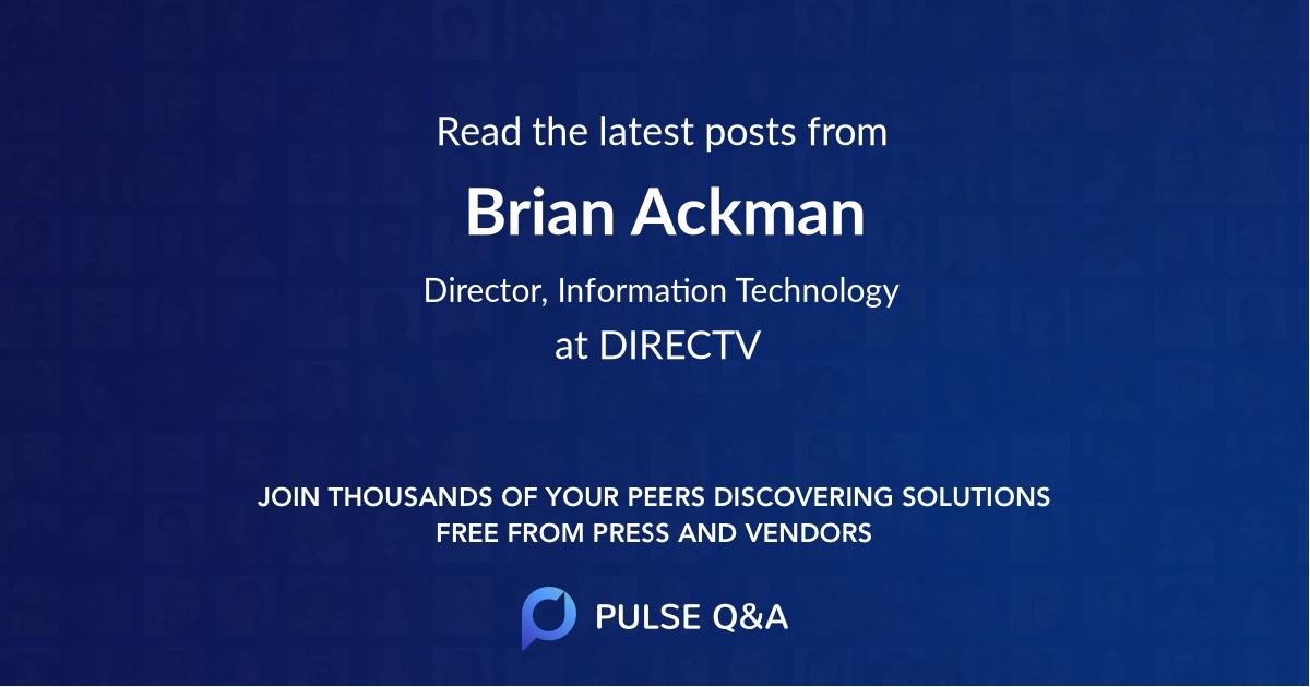 Brian Ackman