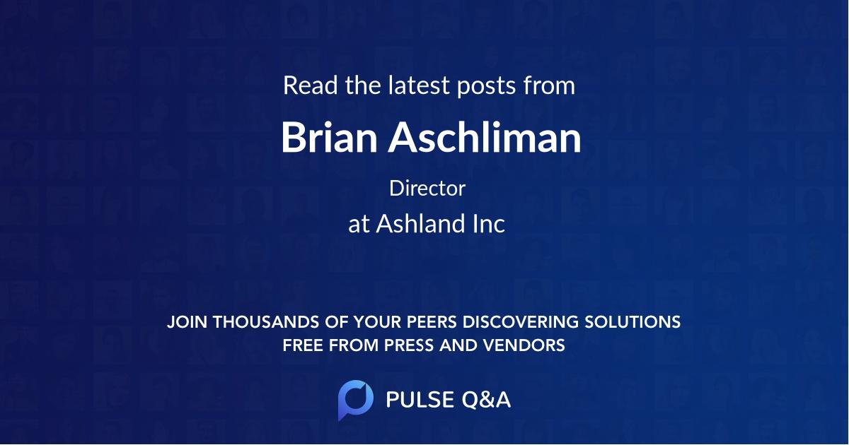 Brian Aschliman