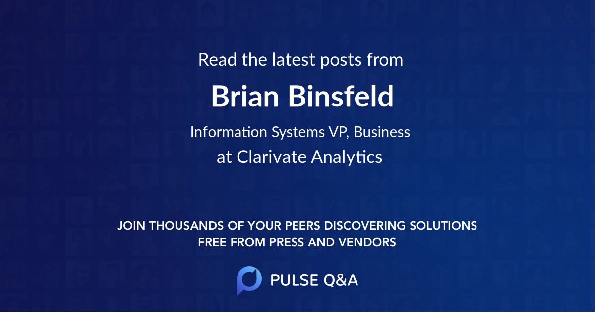 Brian Binsfeld