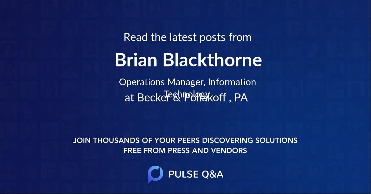 Brian Blackthorne