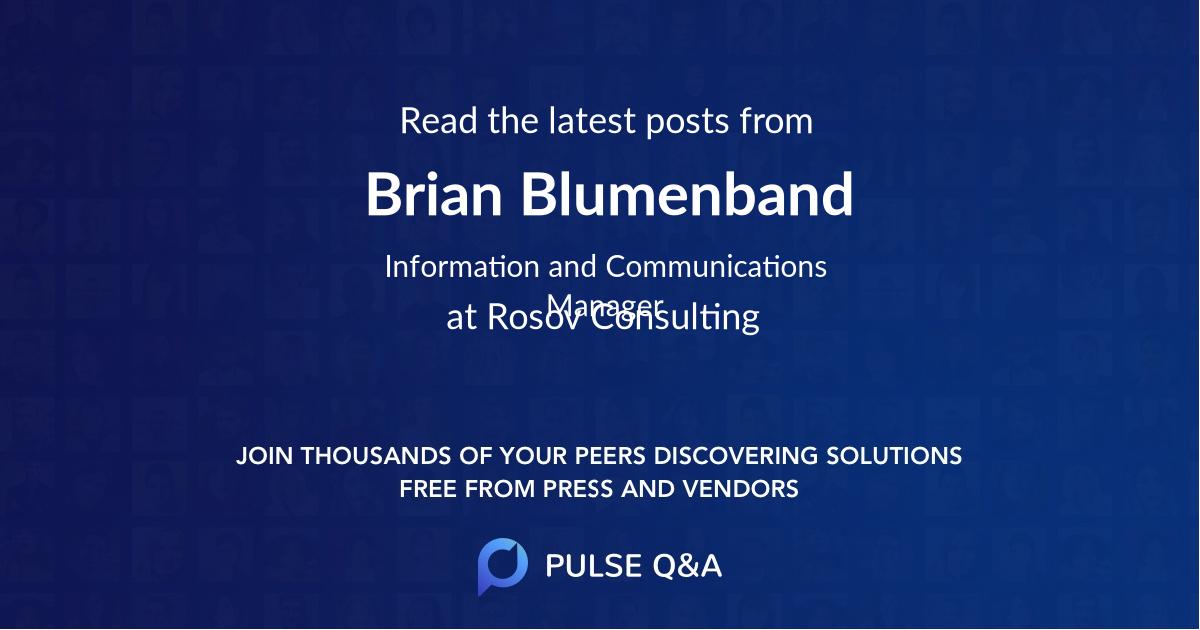Brian Blumenband