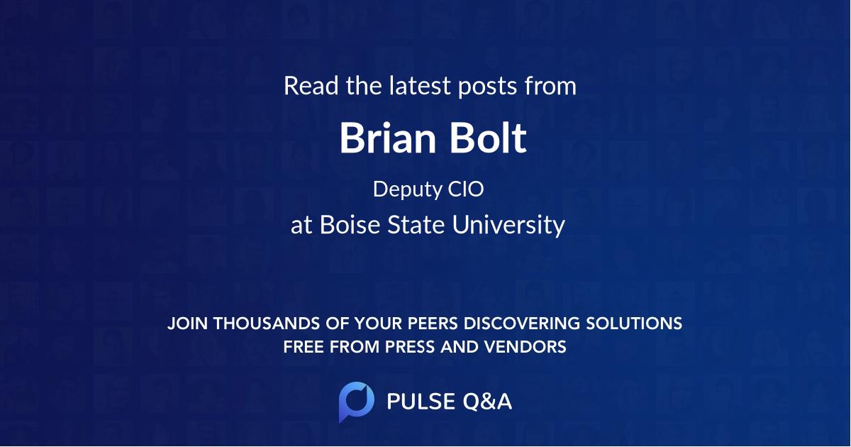 Brian Bolt