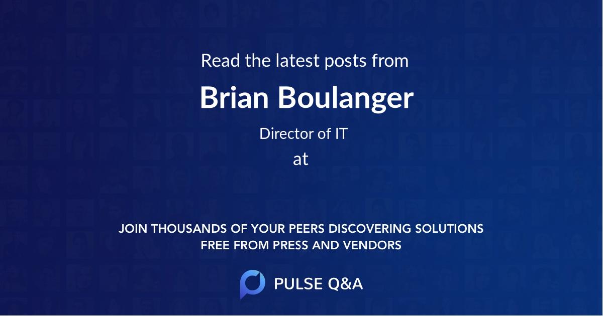 Brian Boulanger