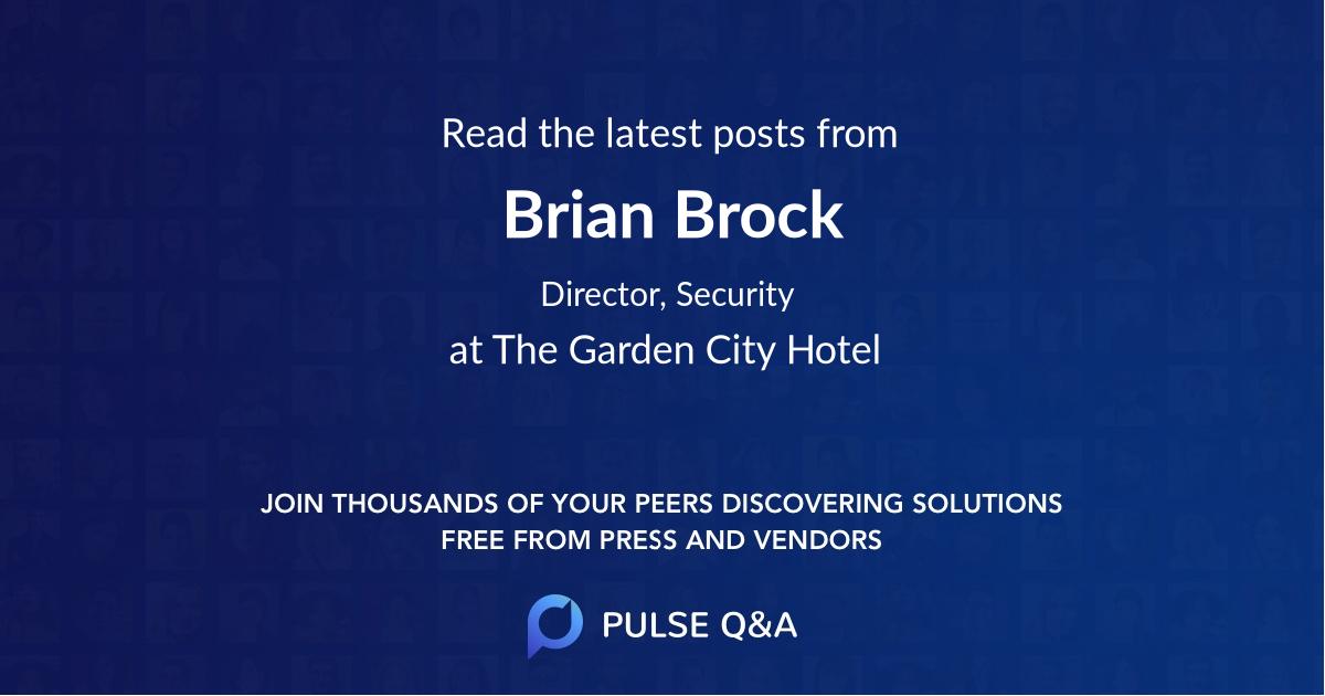Brian Brock