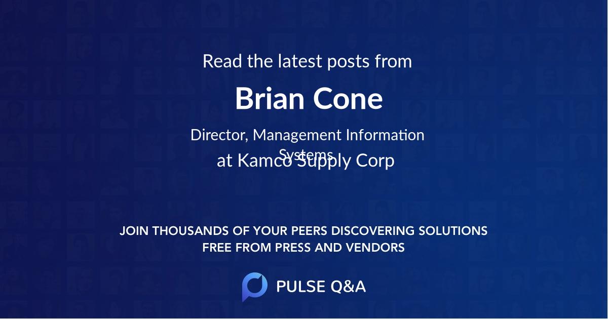 Brian Cone