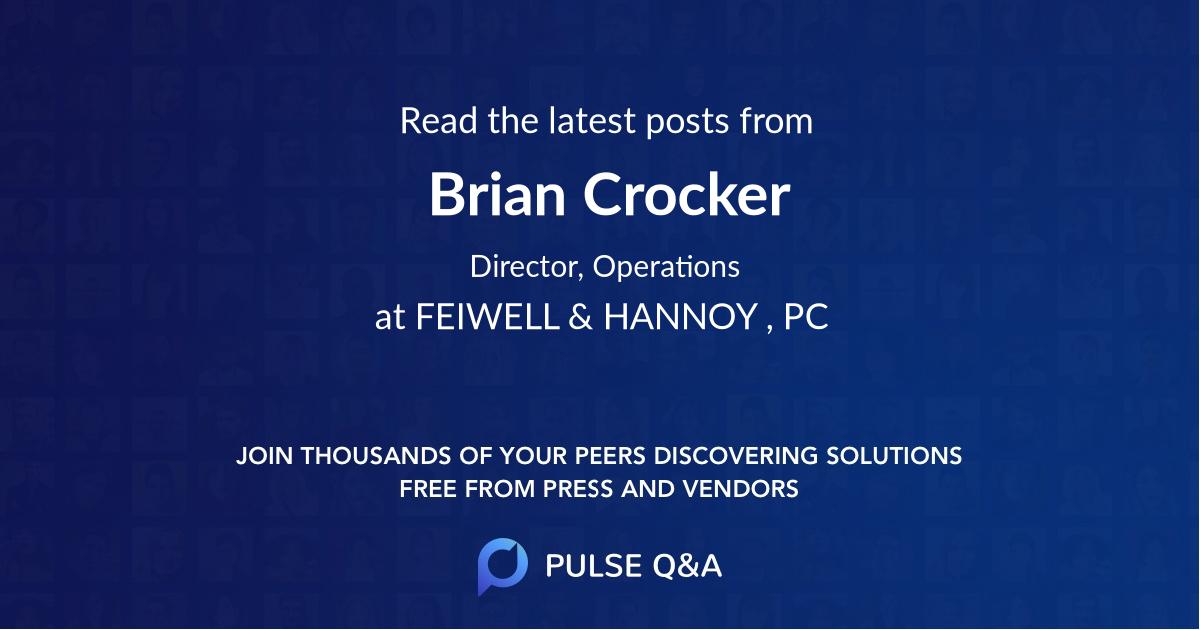 Brian Crocker