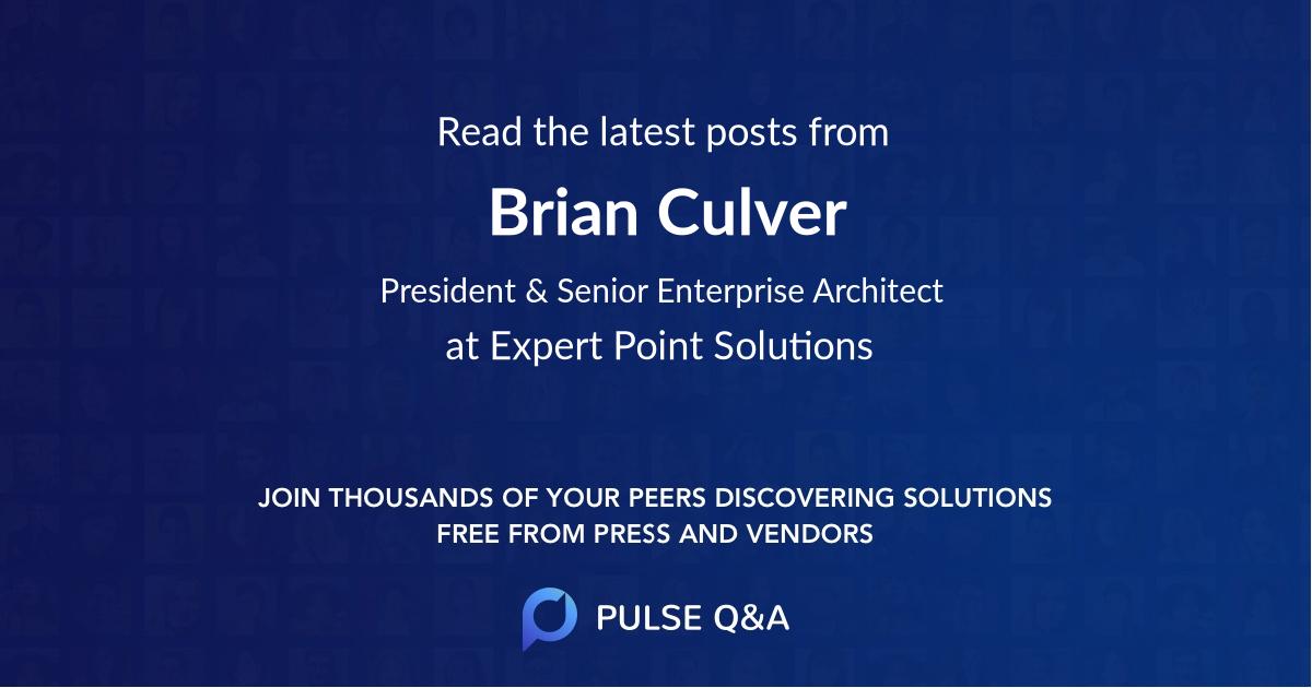 Brian Culver