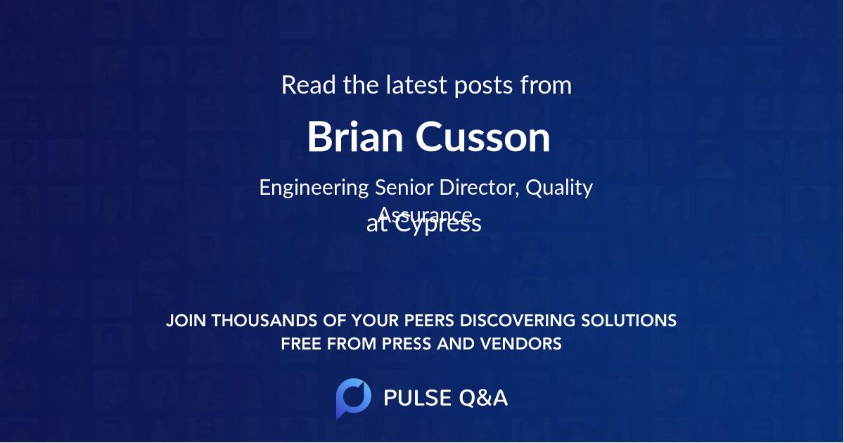 Brian Cusson