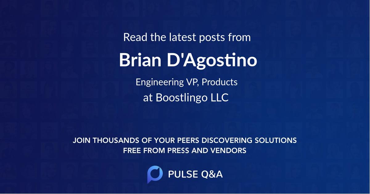 Brian D'Agostino
