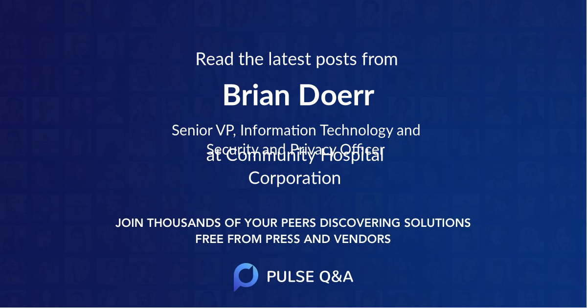 Brian Doerr