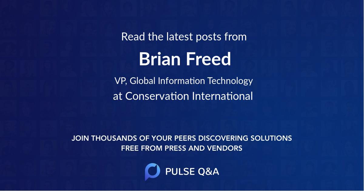 Brian Freed