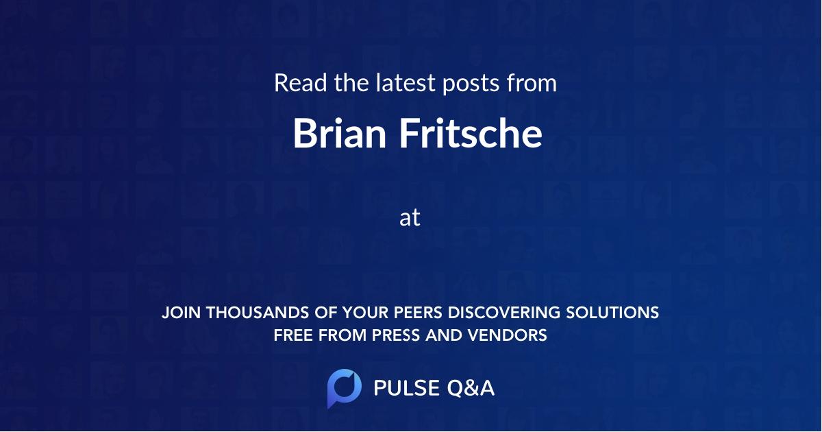 Brian Fritsche