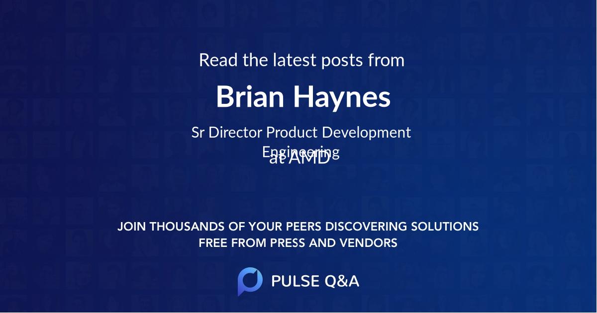 Brian Haynes