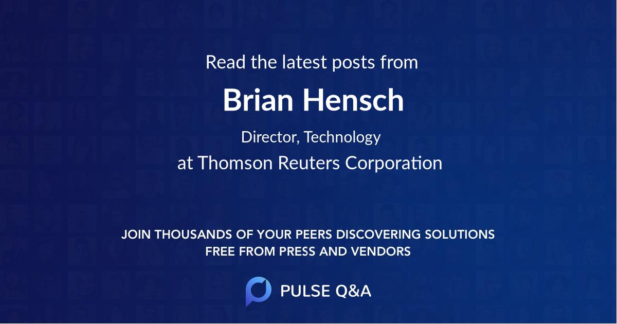 Brian Hensch