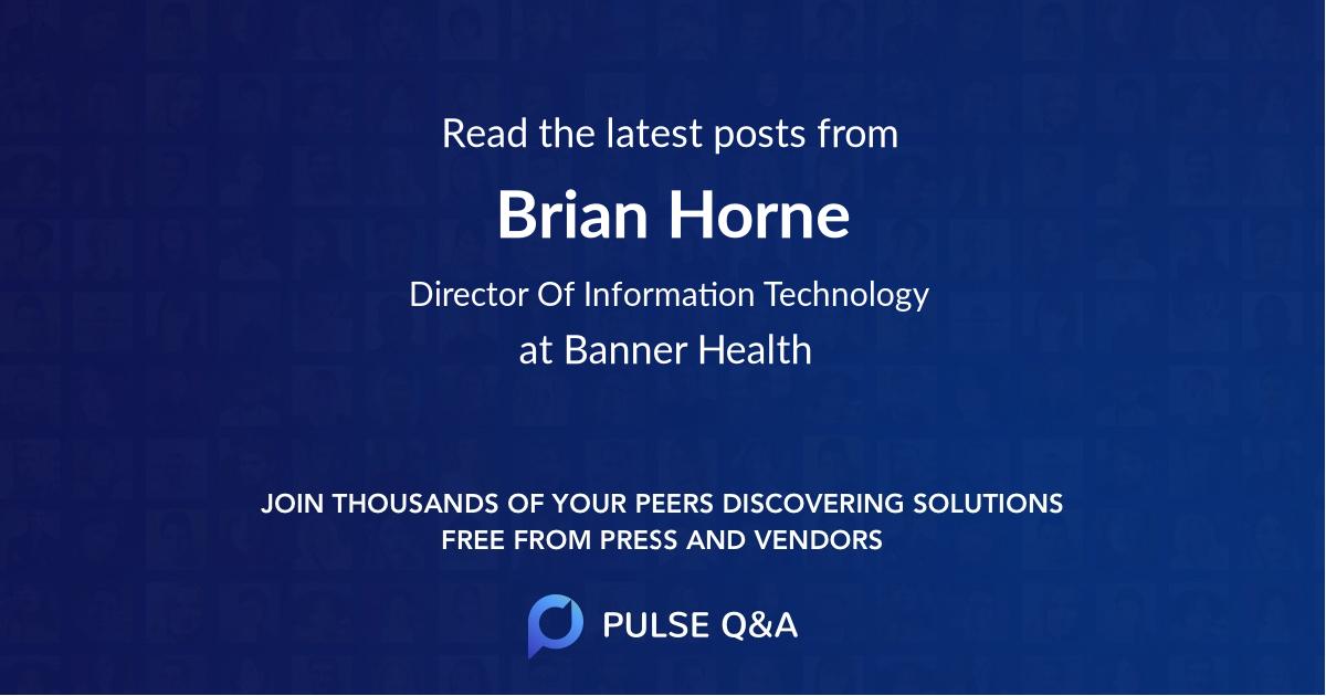 Brian Horne