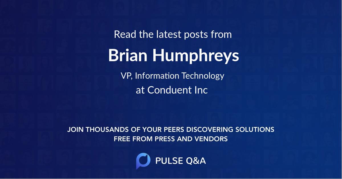 Brian Humphreys