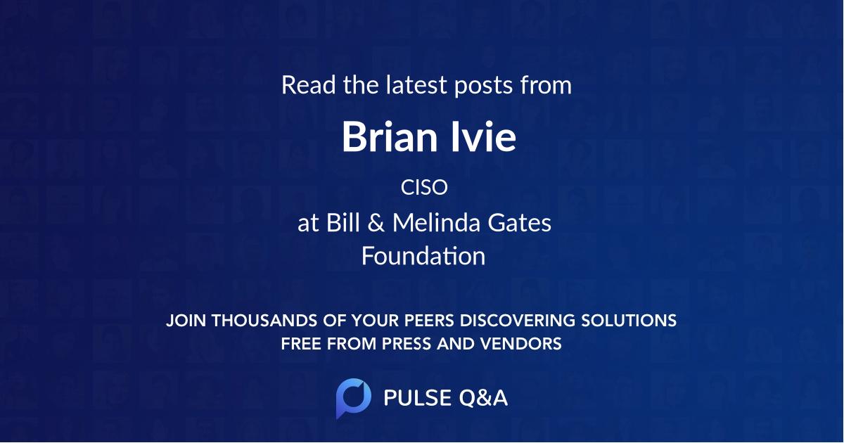Brian Ivie