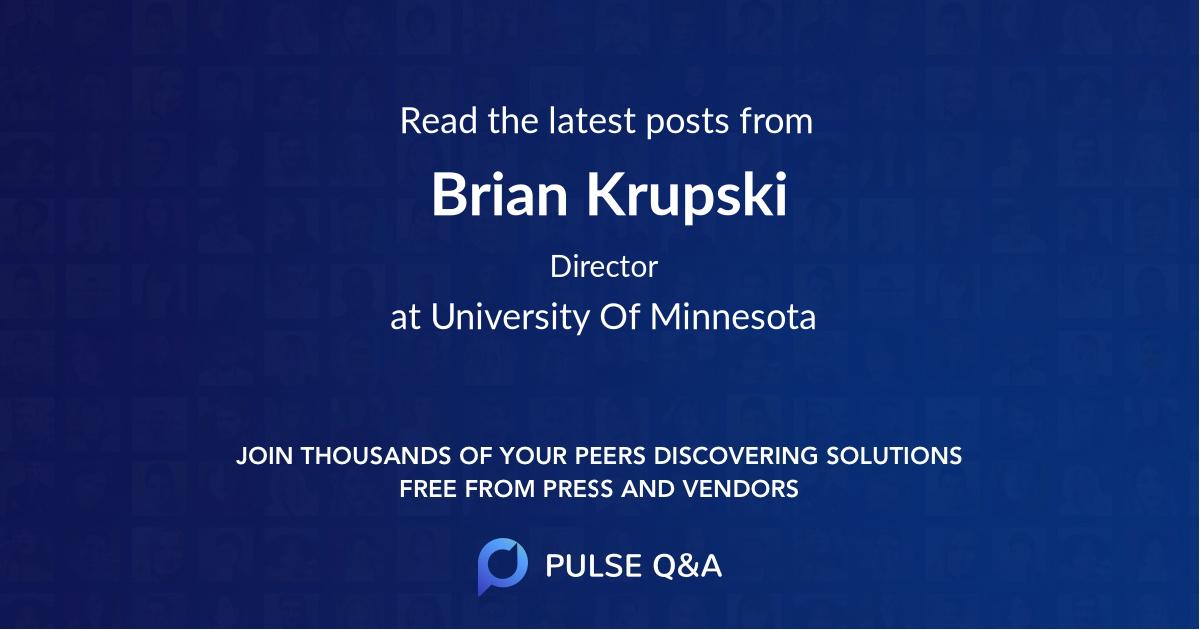 Brian Krupski