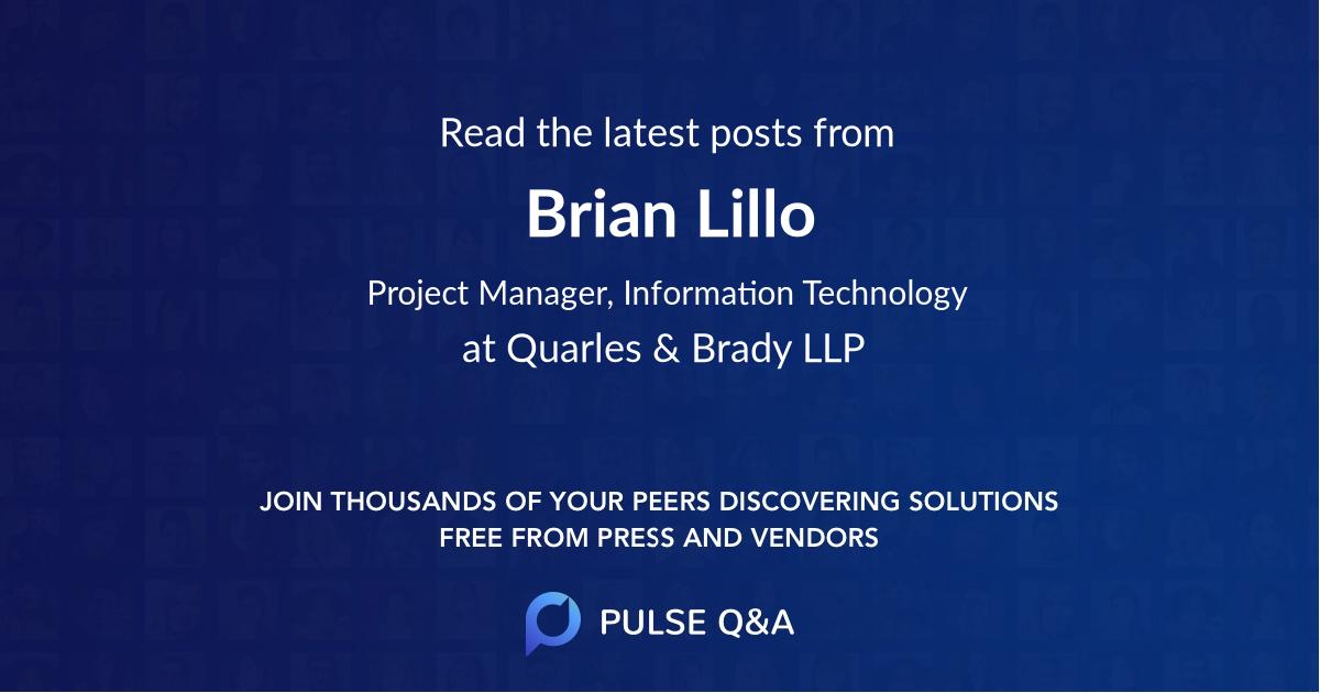 Brian Lillo
