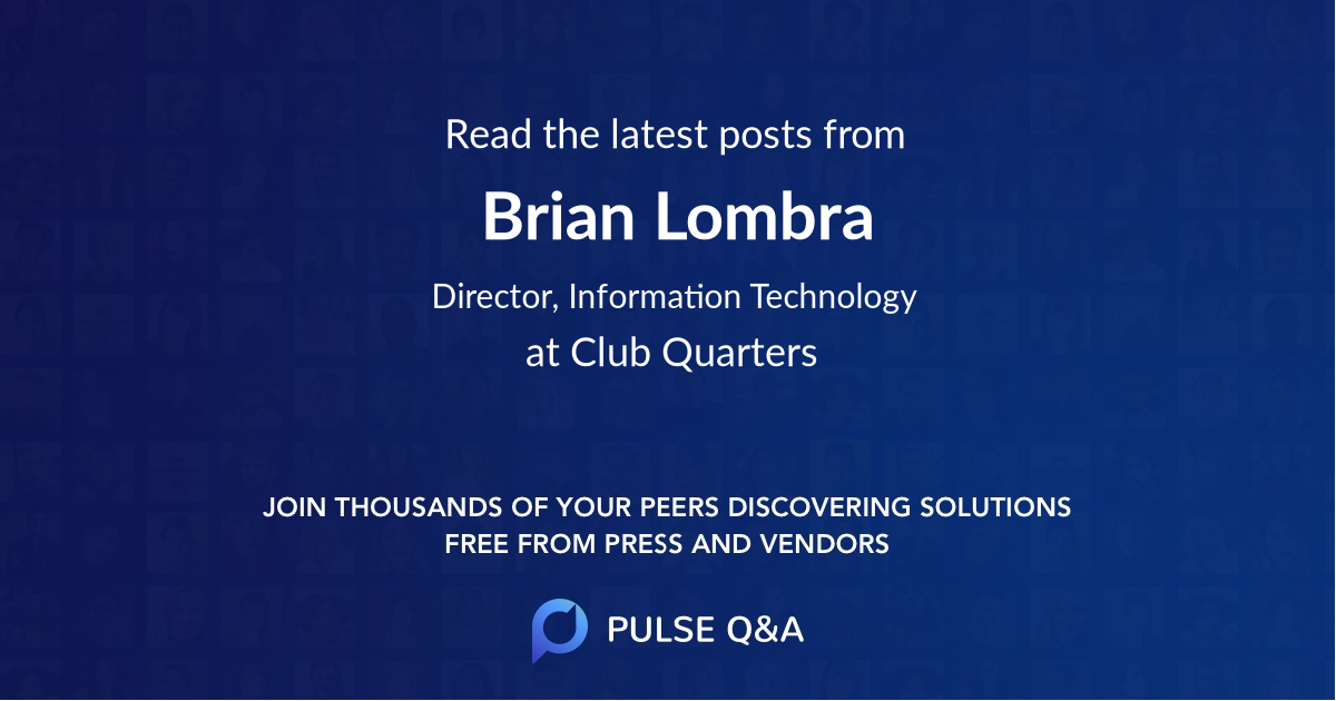 Brian Lombra