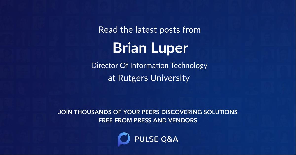 Brian Luper
