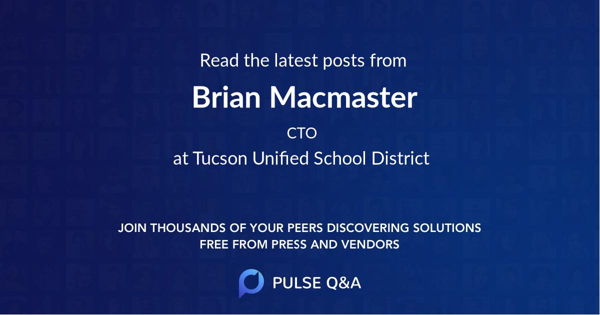 Brian Macmaster